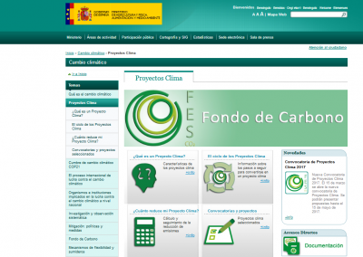 Climate projects within the Carbon Fund for a Sustainable Economy (FES CO2) MAGRAMA