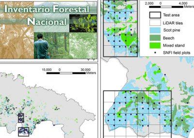 Servicio para la mejora en la estimación y localización de existencias forestales en La Rioja