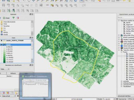Curso QGIS y LiDAR en la evaluación de ecosistemas forestales