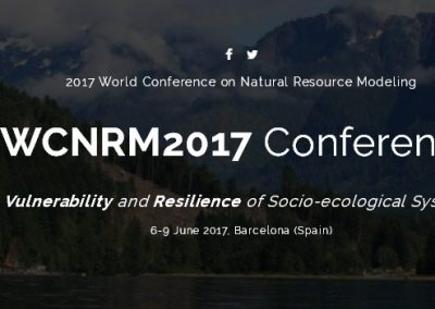"AGRESTA en el ""2017 World Conference on Natural Resource Modeling"" de Barcelona"