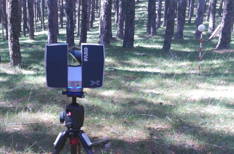 Inventario de parcelas experimentales con láser escáner terrestre (TLS) en Valsaín