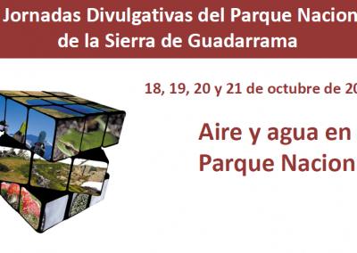 III Jornadas Divulgativas Parque Nacional de la Sierra de Guadarrama