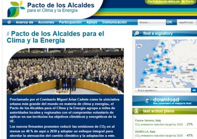 Redacción del Plan de Acción para la Energía Sostenible del Ayuntamiento de Soria, en el marco del Pacto de los Alcaldes