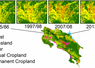 Generating a consistent historical time series of activity data from land use change for the development of Costa Rica's REDDplus reference level