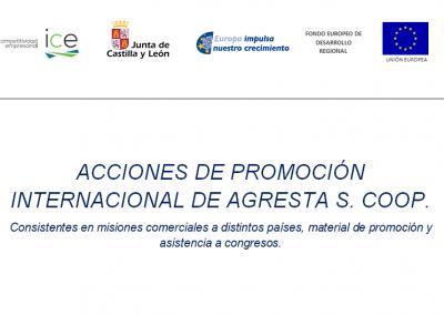 Acciones de promoción internacional de AGRESTA S. Coop.