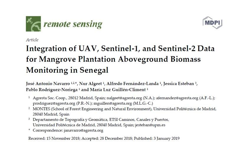 """Publicado artículo en revista científica """"Remote Sensing"""" sobre proyecto en Senegal"""