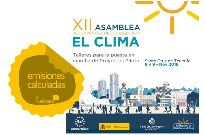 Calculadas emisiones de la Asamblea de la Red Española de Ciudades por el Clima 2018