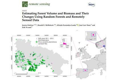 Publicado artículo: «Estimación del volumen forestal y la biomasa y sus cambios mediante Random Forests y datos de detección remota»