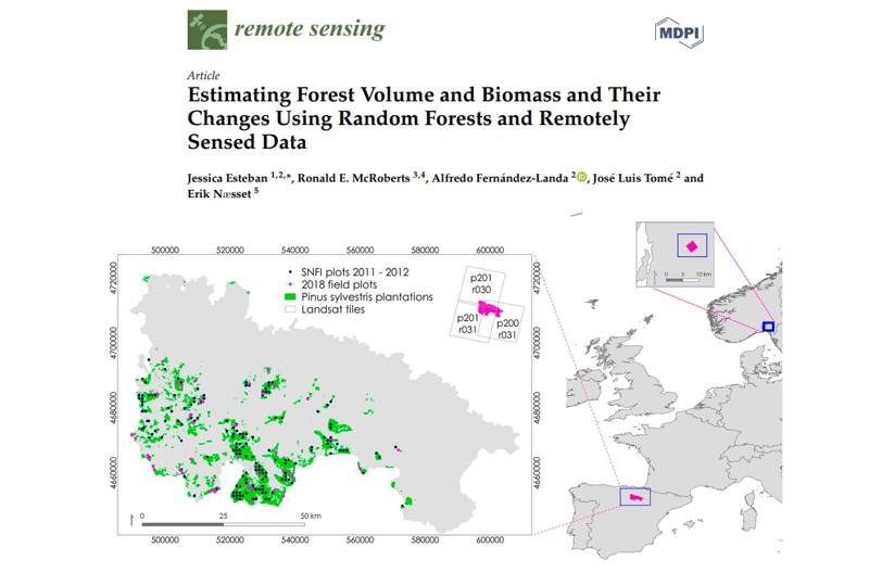 """Publicado artículo: """"Estimación del volumen forestal y la biomasa y sus cambios mediante Random Forests y datos de detección remota"""""""