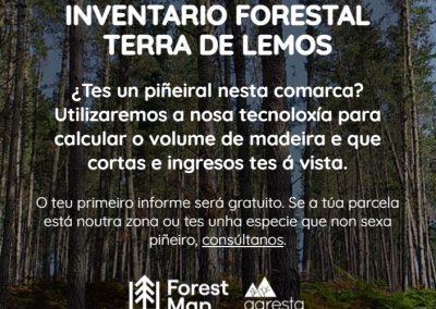 Experiencia piloto inventario Distrito Forestal Terra de Lemos (Lugo)